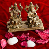 ecraftindia-antique-finish-brass-laxmi-ganesha-on-lotus-base_2
