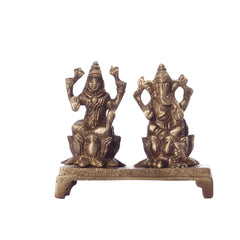 ecraftindia-antique-finish-brass-laxmi-ganesha-on-lotus-base_1