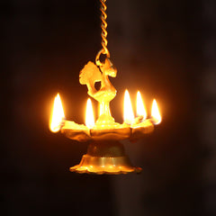 BGPDB101-eCraftIndia-Peacock-Deepak-Golden-Chain-Brass-Hanging-Oil-Wick-Diya_1