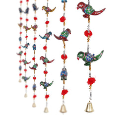 ecraftindia-parrot-mirror-work-door-hanging-metal-tapestry-artificial-beads-set-of-2_1