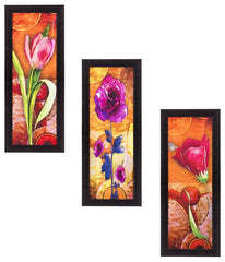 ecraftindia-set-of-3-decorative-floral-lady-satin-matt-texture-uv-art-painting_1