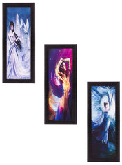 ecraftindia-set-of-3-beautiful-angels-satin-matt-texture-uv-art-painting_1