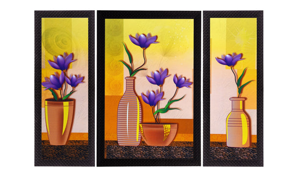 ecraftindia-set-of-3-botanical-floral-and-vase-satin-matt-texture-uv-art-painting_1