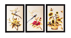 ecraftindia-set-of-3-yellow-beautiful-floral-satin-matt-texture-uv-art-painting_1