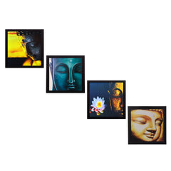 c4fpb1101-ecraftindia-set-of-4-lord-buddha-satin-matt-texture-uv-art-painting_1