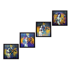 c4fpb1106-ecraftindia-set-of-4-abstract-radha-krishna-satin-matt-texture-uv-art-painting_1