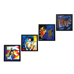 c4fpb1108-ecraftindia-set-of-4-abstract-radha-krishna-satin-matt-texture-uv-art-painting_1