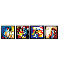 c4fpb1111-ecraftindia-set-of-4-abstract-radha-krishna-satin-matt-texture-uv-art-painting_1