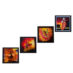 ecraftindia-set-of-4-dancing-girls-satin-matt-texture-uv-art-painting_1