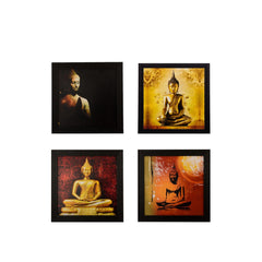 c4fpb1123-ecraftindia-set-of-4-lord-buddha-satin-matt-texture-uv-art-painting_1