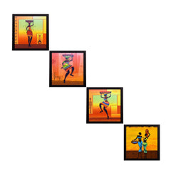 c4fpb1127-ecraftindia-set-of-4-tribal-women-satin-matt-texture-uv-art-painting_1