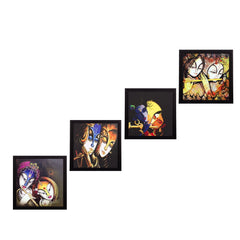 c4fpb1130-ecraftindia-set-of-4-radha-krishna-satin-matt-texture-uv-art-painting_1