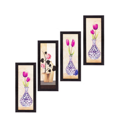 c4fpb2104-ecraftindia-set-of-4-botanical-floral-pots-satin-matt-texture-uv-art-painting_1
