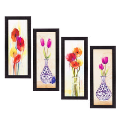 c4fpb2122-ecraftindia-set-of-4-botanical-floral-pots-satin-matt-texture-uv-art-painting_1