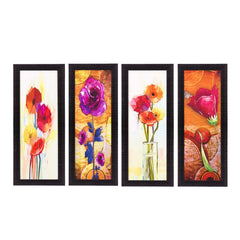 ecraftindia-set-of-4-botanical-floral-pots-satin-matt-texture-uv-art-painting_1