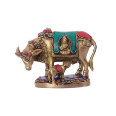 ecraftindia-stone-studded-brass-cow-and-calf_1