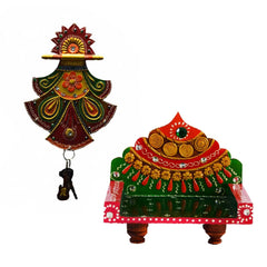 ecraftindia-combo-of-pankhi-key-holder-and-royal-throne-for-mandirtemple_1