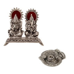 ecraftindia-set-of-laxmi-ganesha-statue-and-om-incense-stick-holder_1