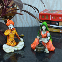 ecraftindia-combo-of-rajasthani-hookah-man-and-lady-statue_2