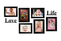 "eCraftIndia-Memory-Wall-Collage-Photo-Frame-Set-of-6-Photo-Frames-for-6-Photos-of-5""x7"",-1-piece-of-LOVE,-1-piece-of-LIFE_1"