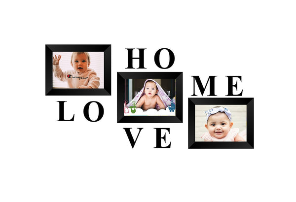 "eCraftIndia-Memory-Wall-Collage-Photo-Frame-Set-of-3-Photo-Frames-for-3-Photos-of-5""x7"",-1-piece-of-HOME,-1-piece-of-LOVE_1"