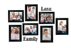 "eCraftIndia-Memory-Wall-Collage-Photo-Frame-Set-of-7-Photo-Frames-for-3-Photos-of-5""x7"",-4-Photos-of-4""x6"",-1-Piece-of-LOVE,-1-Piece-of-FAMILY_1"