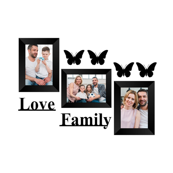 "eCraftIndia-Memory-Wall-Collage-Photo-Frame-Set-of-3-Photo-Frames-for-3-Photos-of-5""x7"",-1-Piece-of-LOVE,-1-Piece-of-FAMILY,-4-Pieces-of-BUTTERFLIES_1"