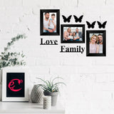 "eCraftIndia-Memory-Wall-Collage-Photo-Frame-Set-of-3-Photo-Frames-for-3-Photos-of-5""x7"",-1-Piece-of-LOVE,-1-Piece-of-FAMILY,-4-Pieces-of-BUTTERFLIES_2"