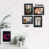 "eCraftIndia-Memory-Wall-Collage-Photo-Frame-Set-of-4-Photo-Frames-for-2-Photos-of-5""x7"",-2-Photos-of-4""x6"",-1-Piece-of-FRIENDS,-1-Piece-of-LIFE_2"