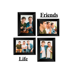 "eCraftIndia-Memory-Wall-Collage-Photo-Frame-Set-of-4-Photo-Frames-for-2-Photos-of-5""x7"",-2-Photos-of-4""x6"",-1-Piece-of-FRIENDS,-1-Piece-of-LIFE_1"