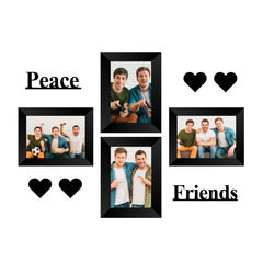 "eCraftIndia-Memory-Wall-Collage-Photo-Frame-Set-of-4-Photo-Frames-for-4-Photos-of-5""x7"",-1-Piece-of-PEACE,-1-Piece-of-FRIENDS,-4-Pieces-of-HEARTS_1"