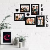 "eCraftIndia-Memory-Wall-Collage-Photo-Frame-Set-of-5-Photo-Frames-for-3-Photos-of-4""x6"",-2-Photos-of-5""x7"",-1-Piece-of-FRIENDS,-2-Pieces-of-HEARTS_2"