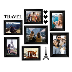 "eCraftIndia-Memory-Wall-Collage-Photo-Frame-Set-of-7-Photo-Frames-for-5-Photos-of-4""x6"",-2-Photos-of-5""x7"",-1-Piece-of-TRAVEL,-1-Piece-of-EIFFEL-TOWER,-3-Pieces-of-HEARTS_1"