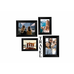"eCraftIndia-Memory-Wall-Collage-Photo-Frame-Set-of-4-Photo-Frames-for-2-Photos-of-4""x6"",-2-Photos-of-5""x7"",-1-Piece-of-TRAVEL_1"