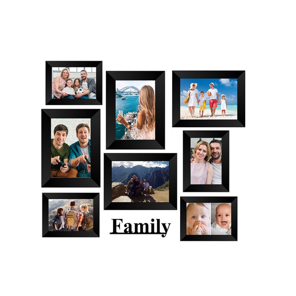 "eCraftIndia-Memory-Wall-Collage-Photo-Frame-Set-of-8-Photo-Frames-for-4-Photos-of-4""x6"",-4-Photos-of-5""x7"",-1-Piece-of-FAMILY_1"