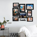 "eCraftIndia-Memory-Wall-Collage-Photo-Frame-Set-of-8-Photo-Frames-for-4-Photos-of-4""x6"",-4-Photos-of-5""x7"",-1-Piece-of-FAMILY_3"