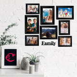 "eCraftIndia-Memory-Wall-Collage-Photo-Frame-Set-of-8-Photo-Frames-for-4-Photos-of-4""x6"",-4-Photos-of-5""x7"",-1-Piece-of-FAMILY_2"