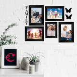 "eCraftIndia-Memory-Wall-Collage-Photo-Frame-Set-of-5-Photo-Frames-for-1-Photos-of-4""x6"",-4-Photos-of-5""x7"",-1-Piece-of-FAMILY,-2-Pieces-of-BUTTERFLIES_2"