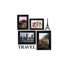 "eCraftIndia-Memory-Wall-Collage-Photo-Frame-Set-of-4-Photo-Frames-for-2-Photos-of-4""x6"",-2-Photos-of-5""x7"",-1-Piece-of-TRAVEL,-1-Piece-of-EIFFEL-TOWER_1"