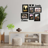 "eCraftIndia-Memory-Wall-Collage-Photo-Frame-Set-of-6-Photo-Frames-for-2-Photos-of-4""x6"",-4-Photos-of-5""x7"",-1-Piece-of-FAMILY,-1-Piece-of-PEACE,-2-Pieces-of-HEARTS_3"