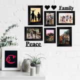 "eCraftIndia-Memory-Wall-Collage-Photo-Frame-Set-of-6-Photo-Frames-for-2-Photos-of-4""x6"",-4-Photos-of-5""x7"",-1-Piece-of-FAMILY,-1-Piece-of-PEACE,-2-Pieces-of-HEARTS_2"