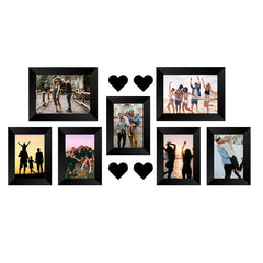 "eCraftIndia-Memory-Wall-Collage-Photo-Frame-Set-of-7-Photo-Frames-for-5-Photos-of-4""x6"",-2-Photos-of-5""x7"",-4-Pieces-of-HEARTS_1"