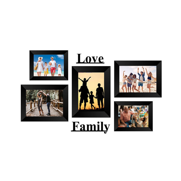 "eCraftIndia-Memory-Wall-Collage-Photo-Frame-Set-of-5-Photo-Frames-for-2-Photos-of-4""x6"",-3-Photos-of-5""x7"",-1-Piece-of-LOVE,-1-Piece-of-FAMILY_1"