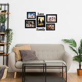 "eCraftIndia-Memory-Wall-Collage-Photo-Frame-Set-of-5-Photo-Frames-for-2-Photos-of-4""x6"",-3-Photos-of-5""x7"",-1-Piece-of-LOVE,-1-Piece-of-FAMILY_3"