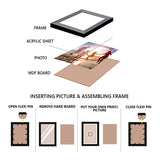 "eCraftIndia-Memory-Wall-Collage-Photo-Frame-Set-of-8-Photo-Frames-for-4-Photos-of-4""x6"",-4-Photos-of-5""x7"",-1-Piece-of-FAMILY_5"