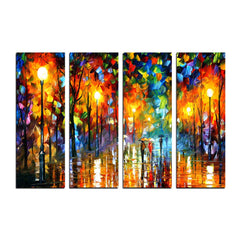 ecraftindia-4-panel-loving-couple-under-rain-premium-canvas-painting_1