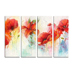 ecraftindia-4-panel-decorative-flowers-premium-canvas-painting_1