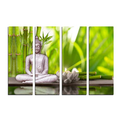 cpgkb2108-ecraftindia-4-panel-meditating-buddha-premium-canvas-painting_1
