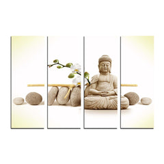 cpgkb2109-ecraftindia-4-panel-meditating-buddha-premium-canvas-painting_1