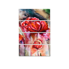 ecraftindia-4-panel-beautiful-red-rose-premium-canvas-painting_1